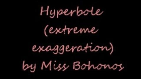 Thumbnail for entry Hyperbole