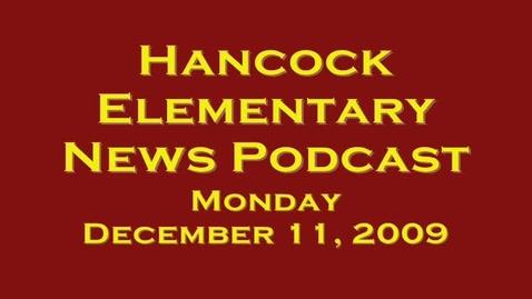 Thumbnail for entry Hancock News December 11, 2009