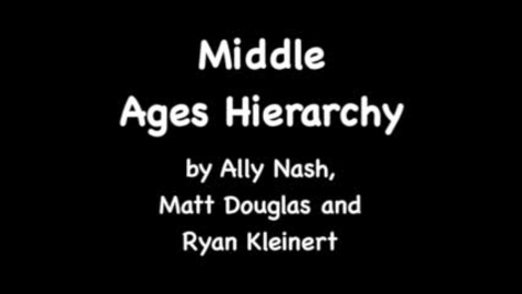 Thumbnail for entry Middle Ages Hierarchy