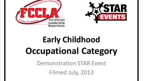 Thumbnail for entry FCCLA STAR Events Demonstration Early Childhood (Canyon Del Oro)