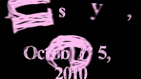Thumbnail for entry Tuesday, October 5, 2010