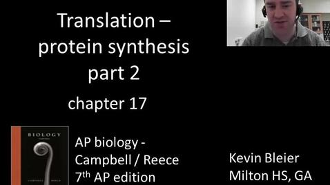 Thumbnail for entry Translation (protein synthesis part 2 of 2)