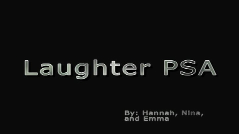 Thumbnail for entry Laughter PSA