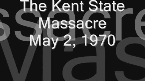 Thumbnail for entry Vietnam; Kent State Massacre May 4, 1970