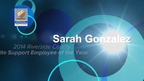 Thumbnail for entry Celebrating Educators 2014:  Sarah Gonzalez