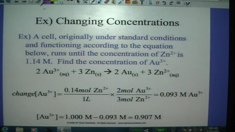 Thumbnail for entry Electrochem 6 - Concentration Cells
