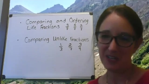 Thumbnail for entry Comparing Fractions - Day 2