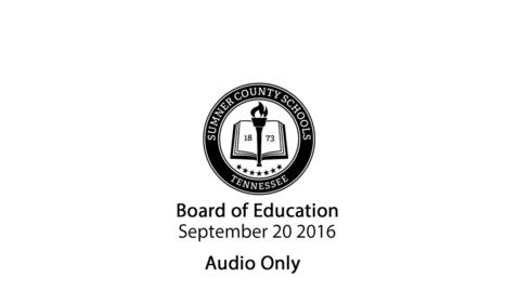 Thumbnail for entry September 20 2016 Regular Meeting
