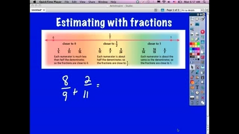 Thumbnail for entry Estimating Fractions: Addition and Subtraction