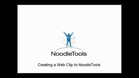Thumbnail for entry Add a NoodleTools button to your iPad desktop
