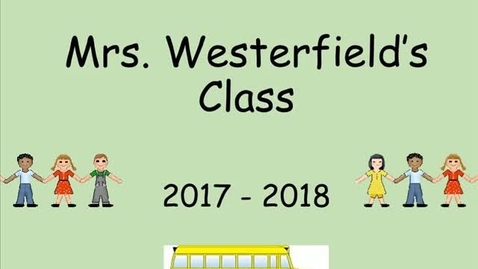 Thumbnail for entry Mrs. Westerfield Kindergarten 2018