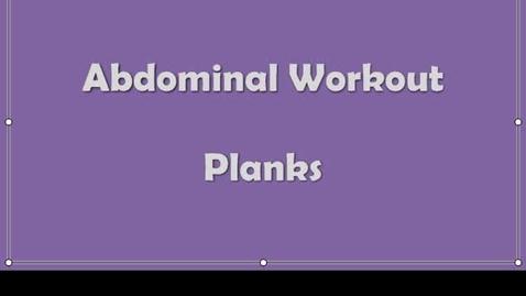 Thumbnail for entry Abdominal Exercises
