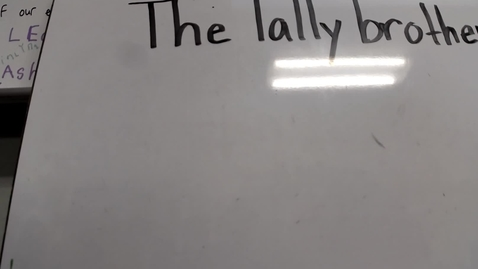 Thumbnail for entry Tally Marks Lesson