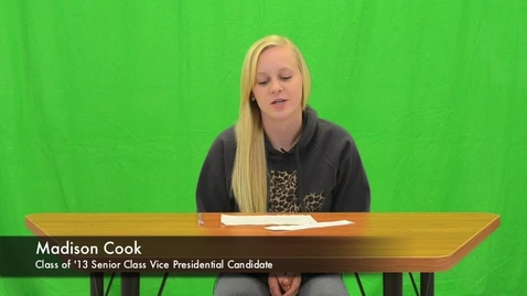 Thumbnail for entry Class of '13 Senior Class Vice Presidential Candidates