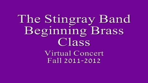 Thumbnail for entry 1st period Beg. Brass Class