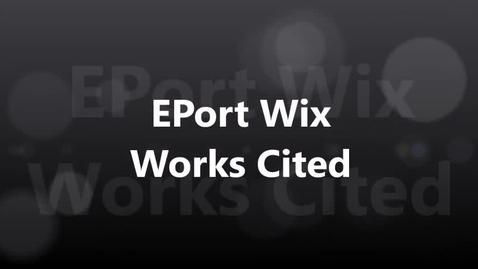 Thumbnail for entry EPort Works Cited 2017