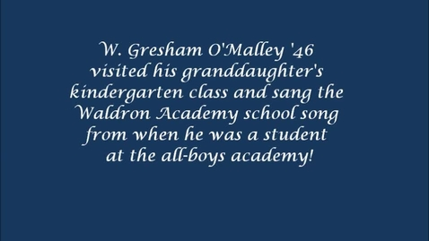 Thumbnail for entry Waldron Academy alumnus sings school song