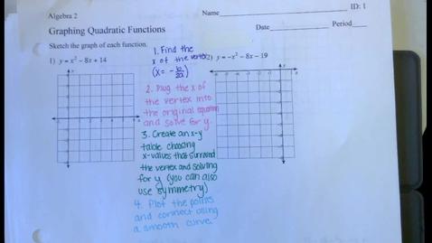 Thumbnail for entry Graphing Quadratics