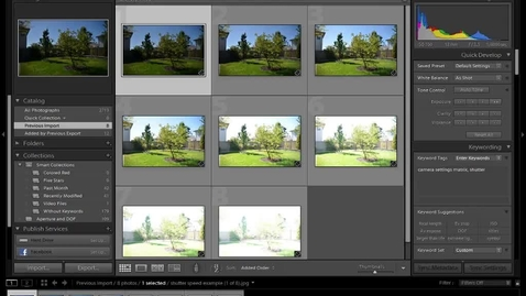 Thumbnail for entry Shutter Speed and Exposure