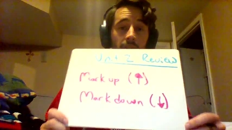 Thumbnail for entry markup and markdown