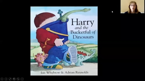 Thumbnail for entry Harry and the bucketful of Dinosaurs read by Mrs Rowley
