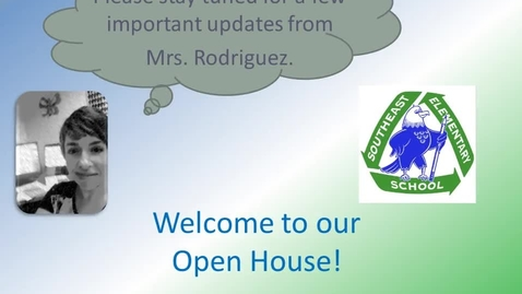 Thumbnail for entry Southeast Open House Announcements - 9/9/2014