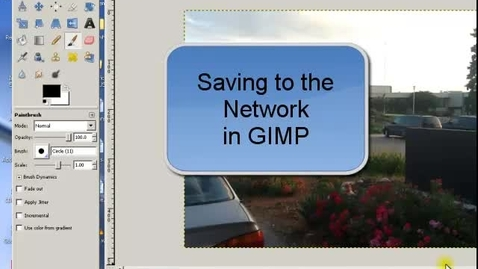 Thumbnail for entry Saving to the Network - Mostly related to GIMP and using it on our school network