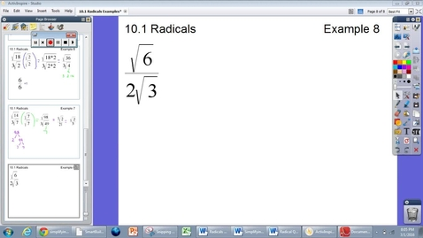 Thumbnail for entry 10.1 Radicals Example 8 (LAST ONE)