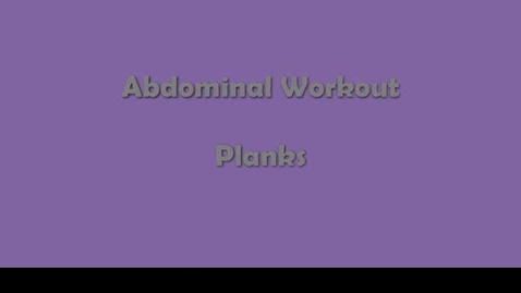 Thumbnail for entry Ab Exercises