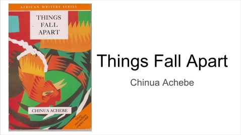 Thumbnail for entry Achebe, Chinua - Things Fall Apart