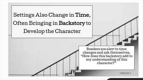 Thumbnail for entry ELA1: Character Study: Setting