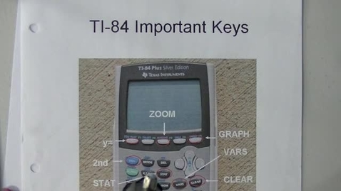 Thumbnail for entry TI-84 Scatter Plots and Line of Best Fit