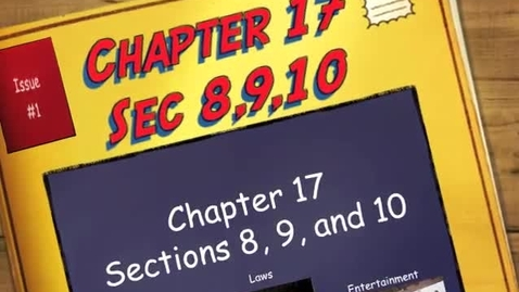 Thumbnail for entry Chapter 17 Section 8,9,and10