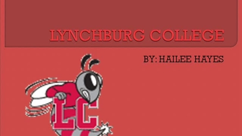 Thumbnail for entry Lynchburg College presentation