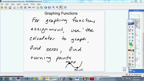 Thumbnail for entry Graphing Functions