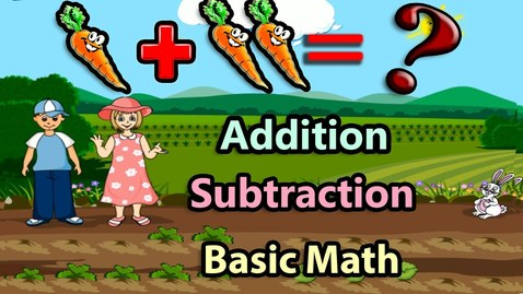 Thumbnail for entry Basic Math For Kids: Addition and Subtraction, Science games, Preschool and Kindergarten Activities