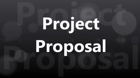 Thumbnail for entry Project Proposal