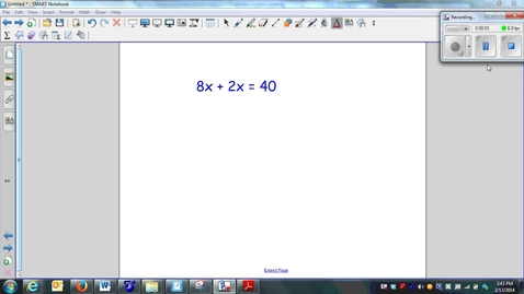Thumbnail for entry Multi-step equations (combining like terms)