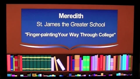 Thumbnail for entry Finger-painting Your Way Through College The 2013 7GP 7th Grade Poetry Contest Winner