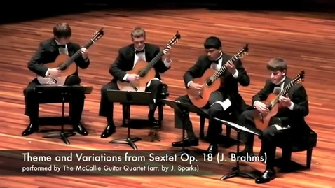 Thumbnail for entry McCallie Guitar Quartet - Theme and Variations from Op. 18 (Brahms)