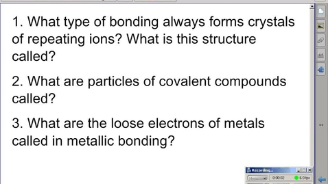 Thumbnail for entry Stephens Pre-AP Chemistry: Bonding and Naming part 2 7th pd