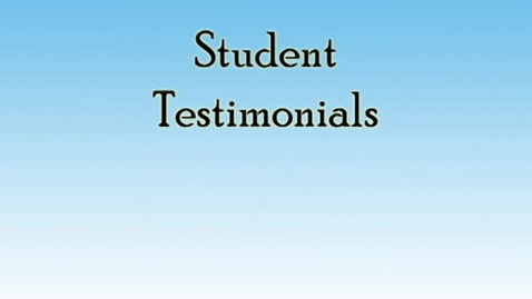 Thumbnail for entry Student Testimonials-Savitri Persaud