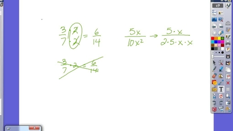 Thumbnail for entry Simplifying Rational Expressions