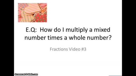 Thumbnail for entry Multiplying Fractions #3