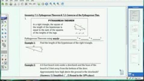 Thumbnail for entry 7.1-7.2 Pythagorean Theorem