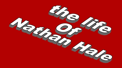 Thumbnail for entry Nathan Hale