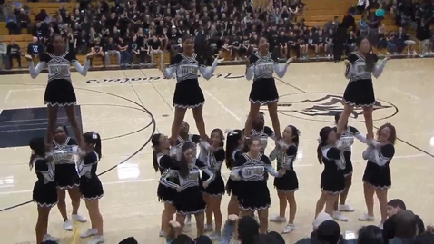 Thumbnail for entry Cheerleaders at basketball playoffs