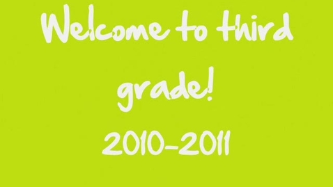 Thumbnail for entry Mrs. Simpson's 3rd grade video