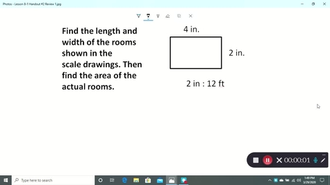 Thumbnail for entry Lesson 8-1 Review Video #2 for Tuesday 3/31/2020