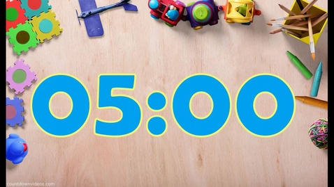 Thumbnail for entry 5 Minute Clean up Fun Music with Countdown for Kids in HD!